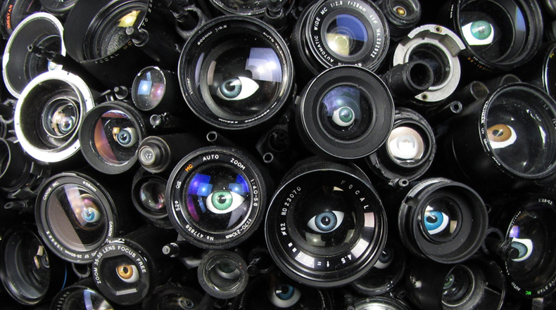 La Vista Gorda lo Ve Todo: Una Escultura de técnica mixta inspirado por las actividades de vigilancia ilegal de la NSA