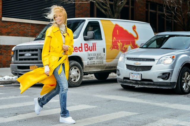 New York, Fashion Week, Street Style, yellow, colour, spring, trend, the purple scarf, melanie.ps, toronto, ontario, canada