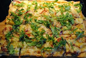 Oppskrift på kvit pizza