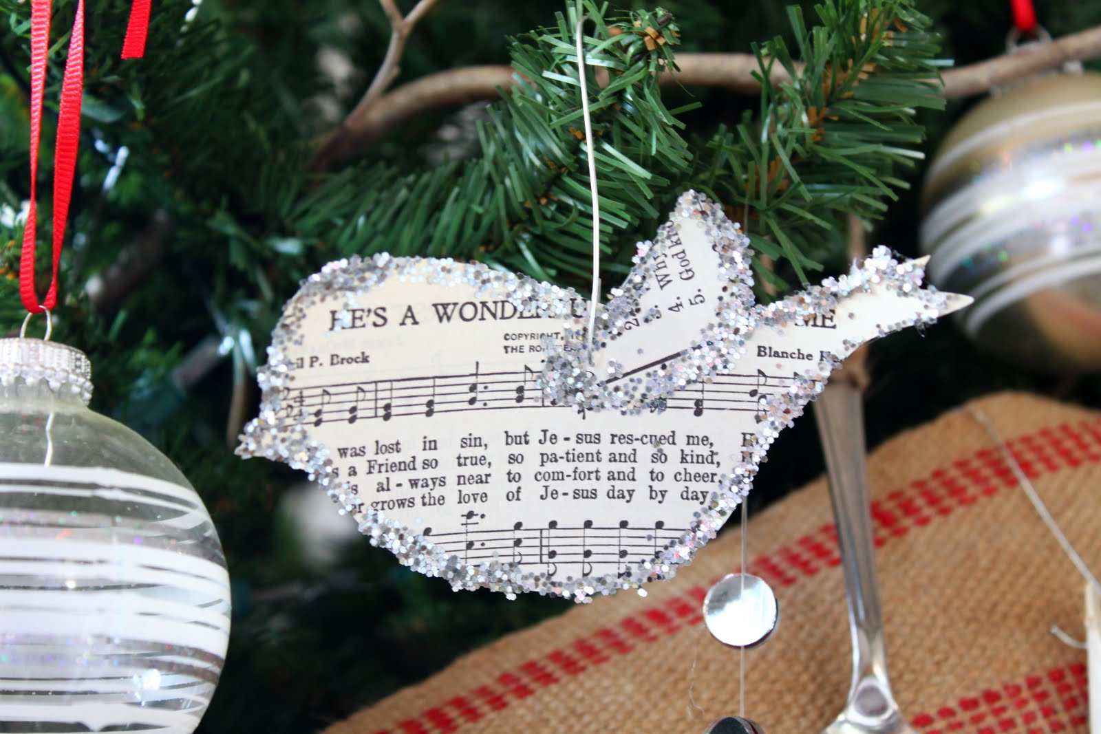 Christmas music ornaments - Simply Christmas Handmade Ornament 3