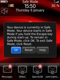 Mengetahui Aplikasi Bermasalah dengan Blackberry Safe Mode