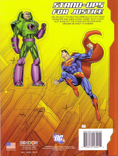 Back cover of Superman Jumbo Coloring And Activity Book