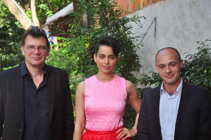 Irfan Khan and Kangna Ranaut at Divine Lovers Movie Launch Event