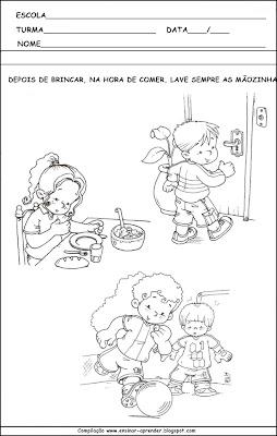 Atividades Higiene Corporal - Cuidados com o Corpo