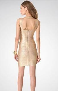Vestido Bandage Dourado: Excelente opção de roupa para o Reveillon!