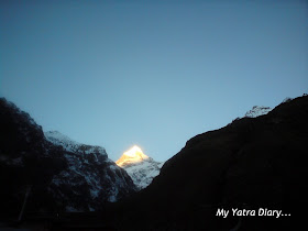 Neelkanth peak in the Garhwal Himalayas, Badrinath, Uttarakhand   during sunrise
