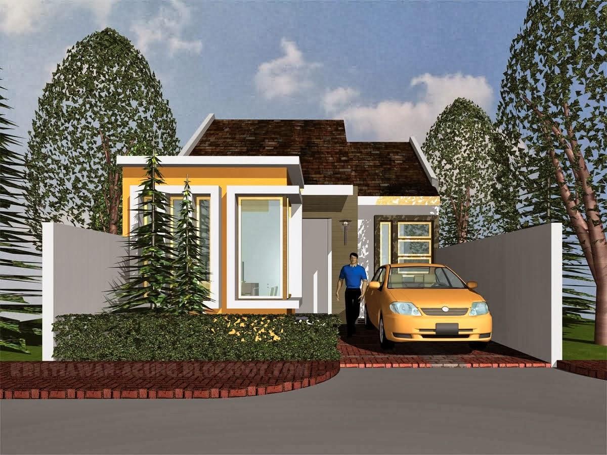 Contoh Desain Rumah Minimalis 1 Lantai Modern Desain Denah Rumah