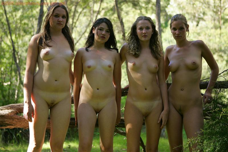 groups nude girls in the woods