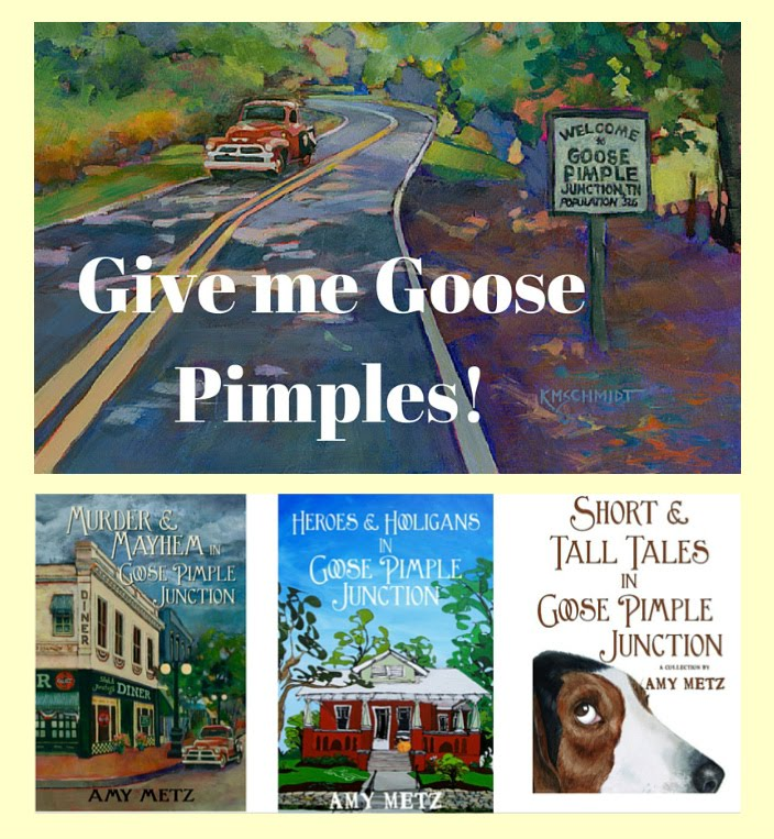Goose Pimple Junction mysteries by Amy Metz