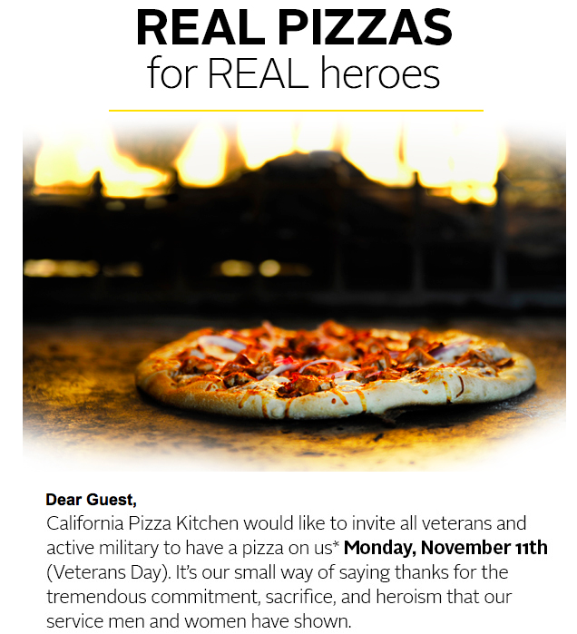 FREE IS MY LIFE: FREE Pizza for Veterans and Active Military at ...