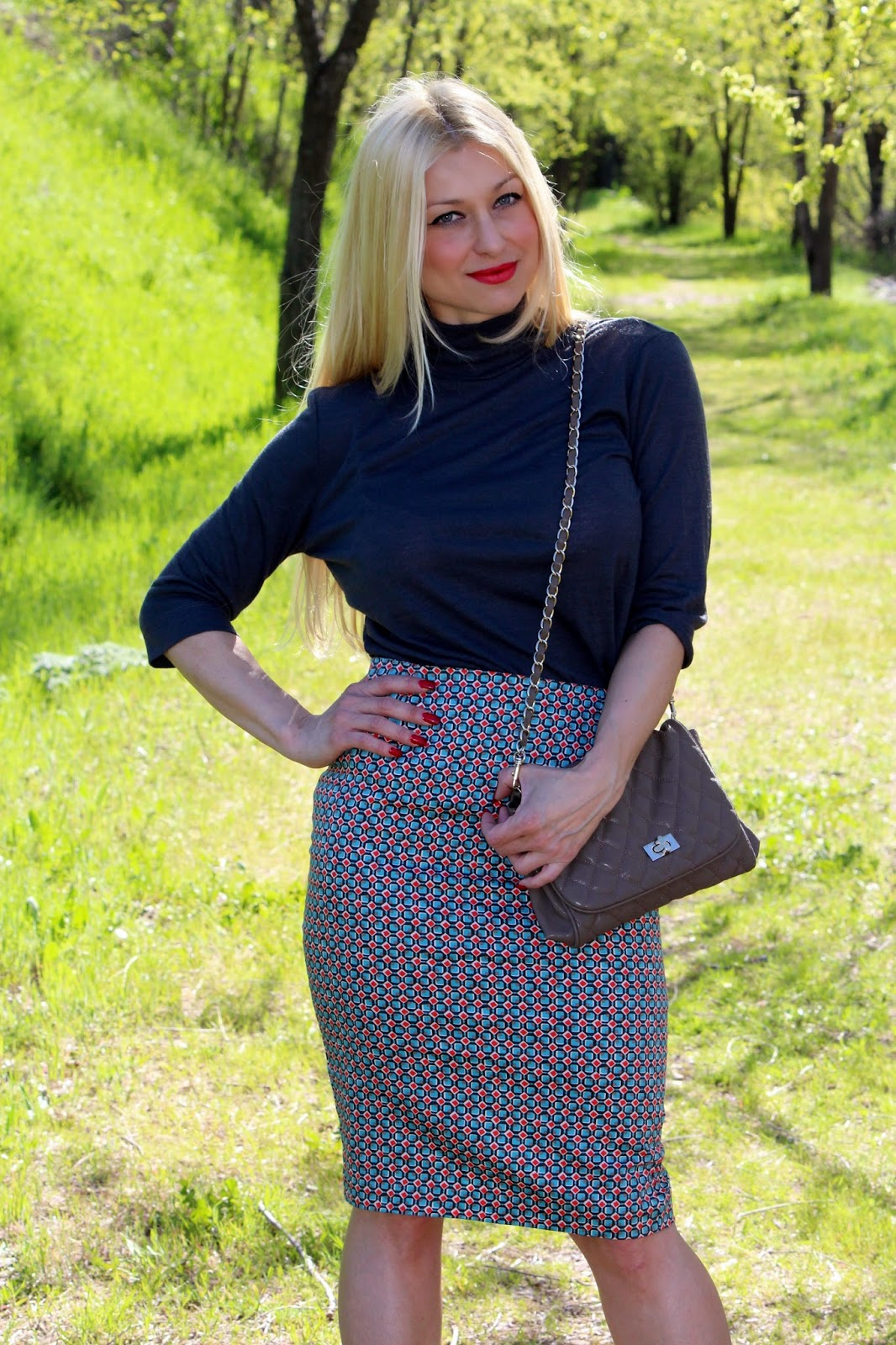 falda de tubo/ pencil skirt