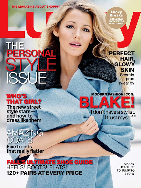 Blake lively covers lucky magazine september 2013
