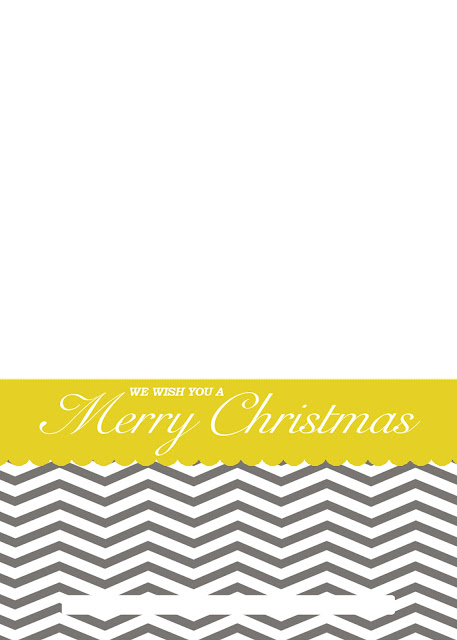 Free printable chevron Christmas card download