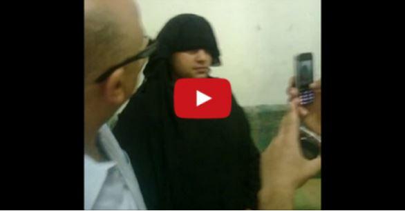 بالفيديو : شاهد لحظة القبض على رجل يرتدي النقاب للقاء عشيقته في وجدة !!