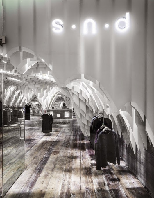 SND Fashion store China, by 3GATTI Architects - Nest of Pearls