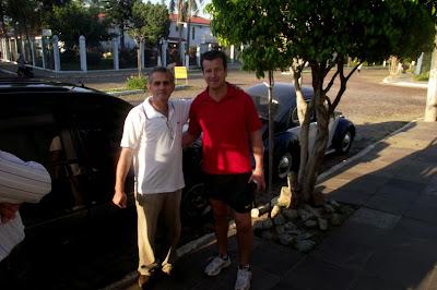 """Eu Charles Netto mesmo com o meu Vizinho Dunga...E  com certeza sempre será o """"Capitão Dunga da Seleção Brasileira""""..."""