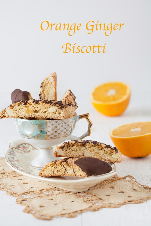 Christmas Cookies #7: Orange Ginger Biscotti at Cooking Melangery