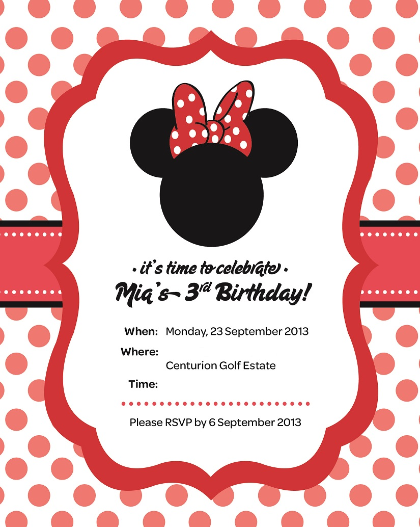 Live, Love, Laugh: Mia\'s Birthday Party Invitation