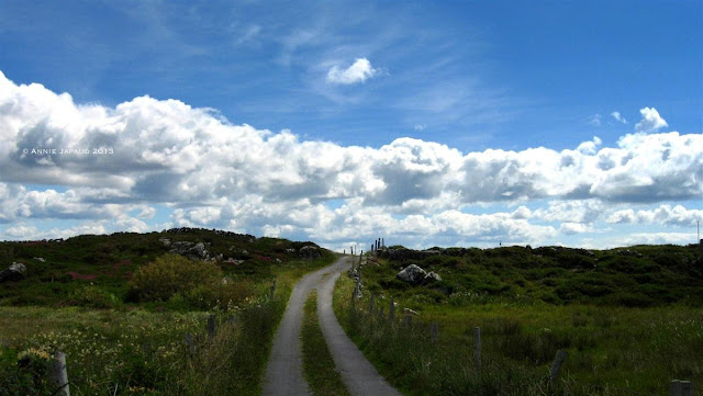 road, clouds, Roundstone © Annie Japaud Photography