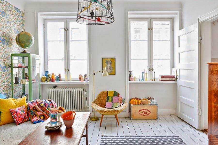 wnętrza, wystrój wnętrz, dom, kolory, radosne mieszkanie, styl skandynawski, białe wnętrza, salon