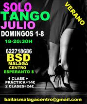 SOLO TANGO EXPRESS, 1 Y 8 DE JULIO EN BSD BAILAS SOCIAL DANCE MÁLAGA CENTRO.