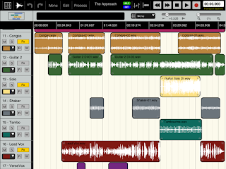 Edit window for Aura multitrack sofware for I pad 2