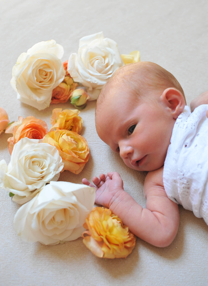 emerson lark newborn floral photography