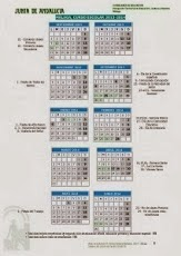 Calendario Escolar del curso