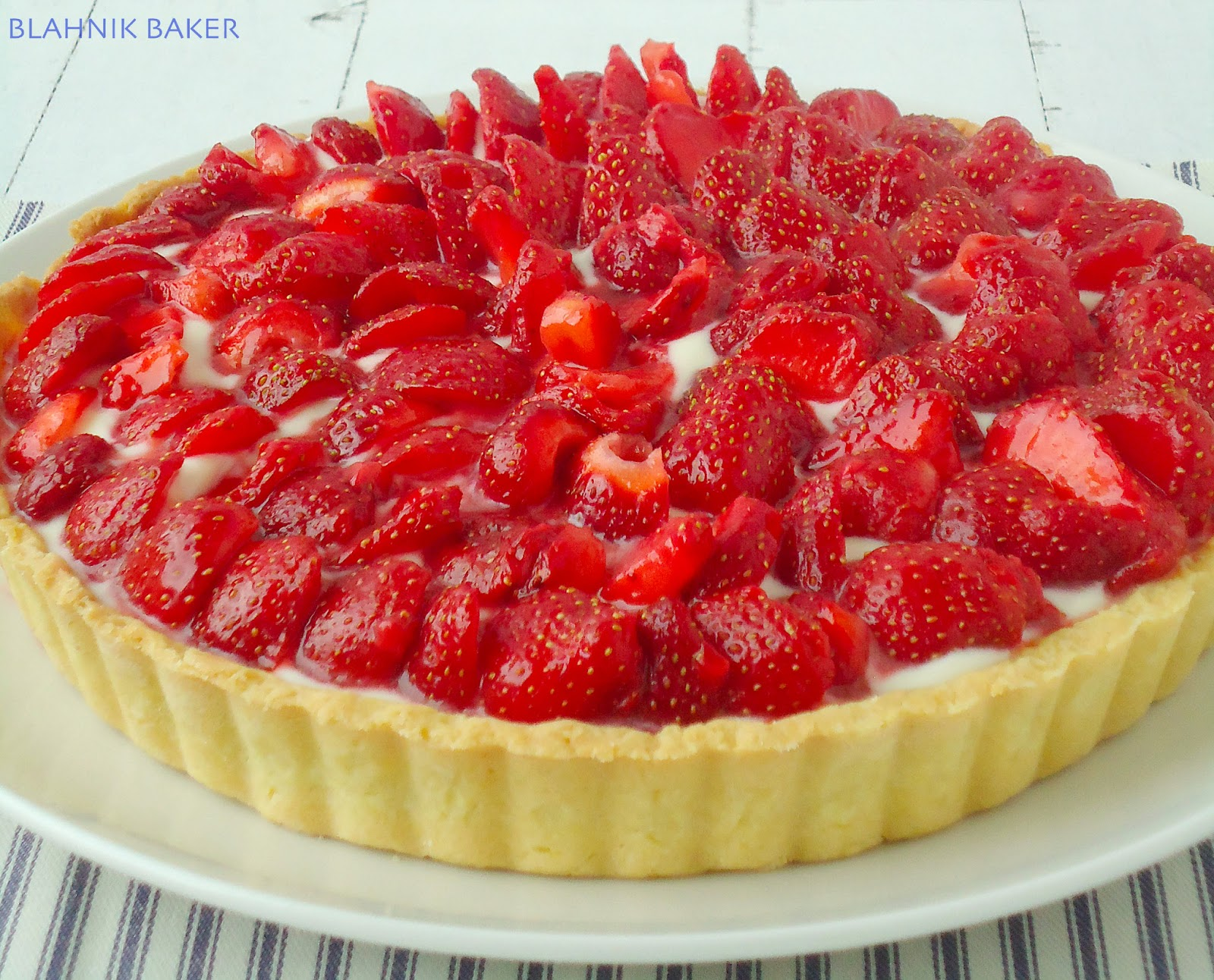 Strawberry Mascarpone Tart via Blahnik Baker