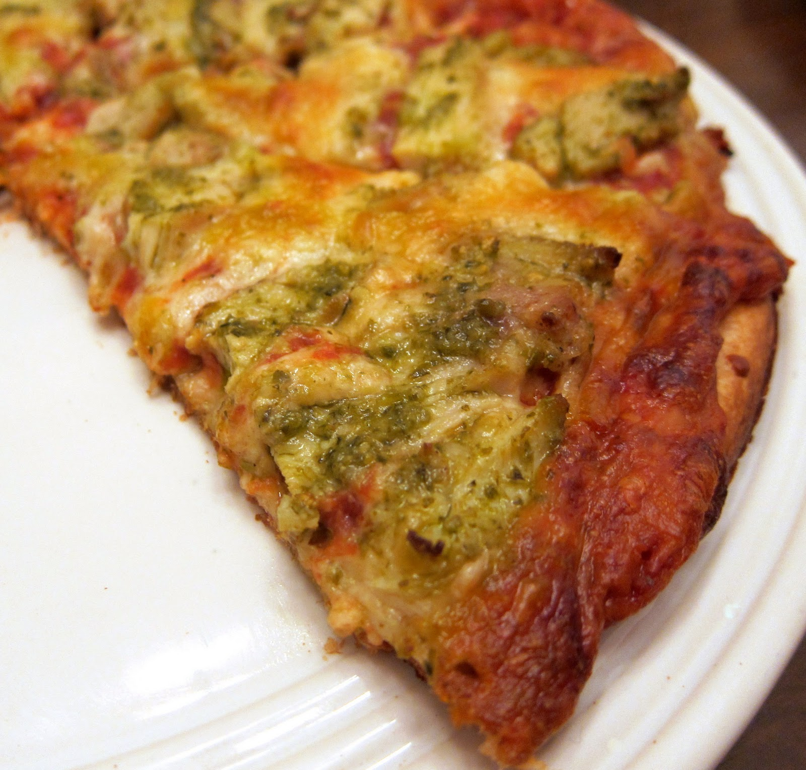 Easy Chicken Pesto Pizza | Plain Chicken
