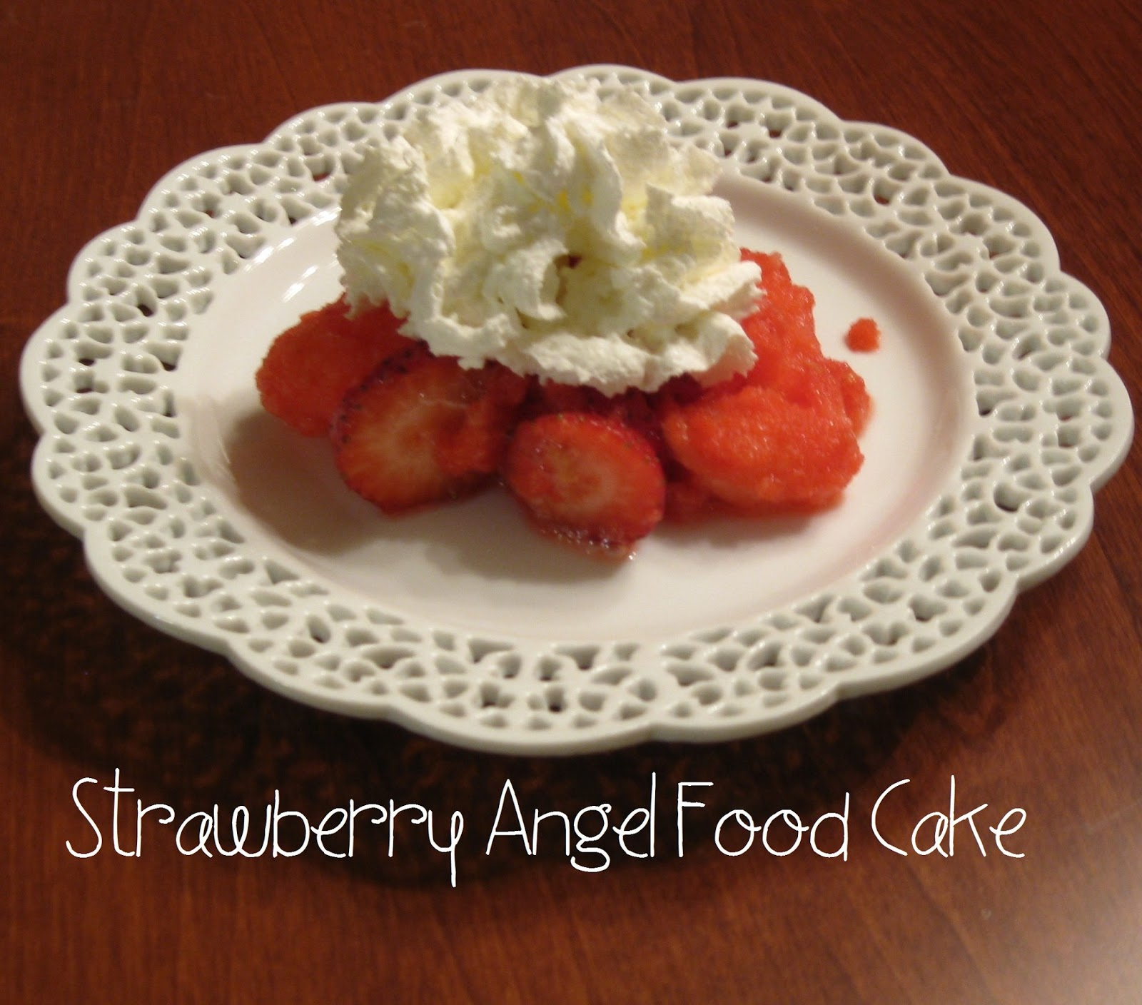 Angel Food Cake With Strawberries And Cool Whip And Jello