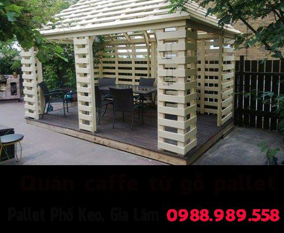 Thiết kế chuyên nghiệp bàn ghế từ gỗ pallet cho quán
