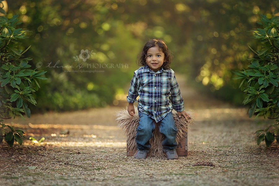 Fall pics - Boy on a Wooden Crate