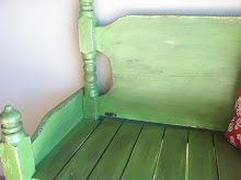 sold - shabby chic green bench