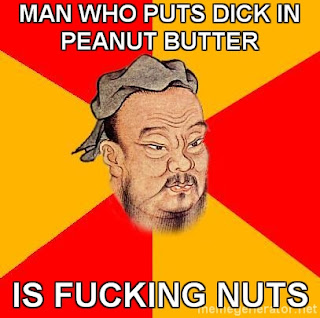 man who puts dick in peanut butter is fucking nuts