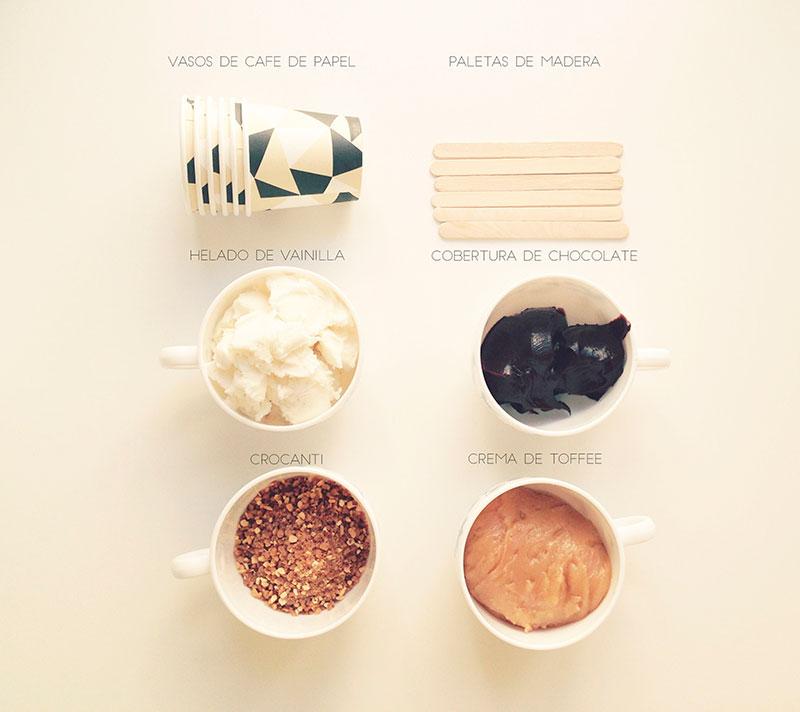 receta de polo cremoso de vainilla y toffee