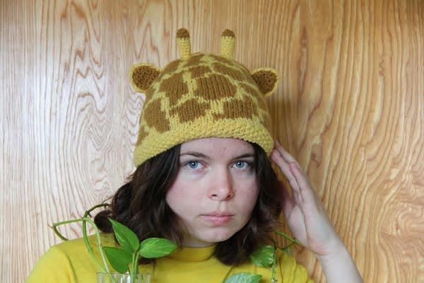 Giraffe Hat Pattern Bear Ears
