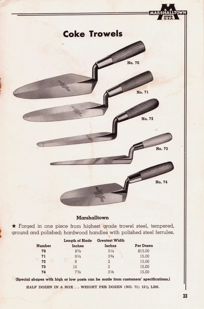 Masonry Trowel Types : Trowel and masonry tool collector resource duck bill
