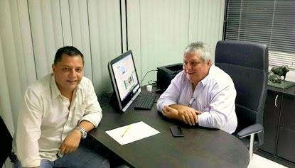 Nelson Grisolia y Jonathan Grisolia González, Presidente y Gerente General de las Empresas Taurinas Fabio Grisolia C.A. y Don Fabio Grisolia C.A