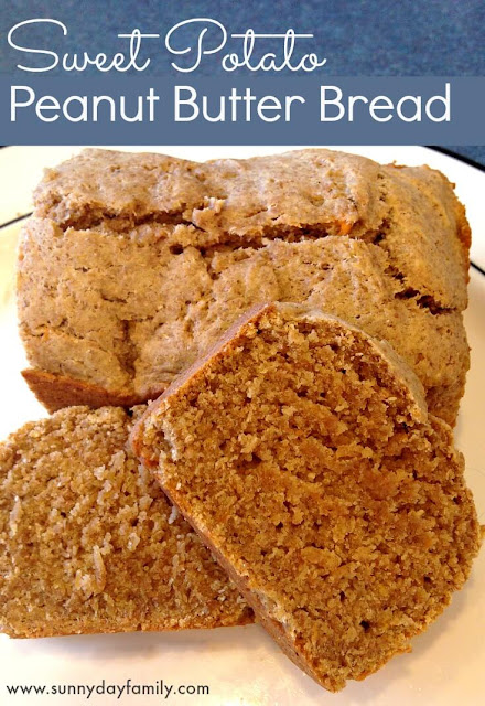 Whole Wheat Sweet Potato Peanut Butter Bread! Healthy and delicious for breakfast or a snack!