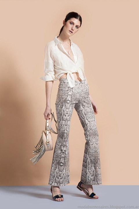 Pantalones oxford estampados verano 2015 Vero Alfie.