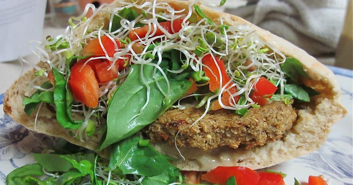 ... Quinoa Chickpea Burgers with Za'atar Spice and Creamy Tahini Sauce