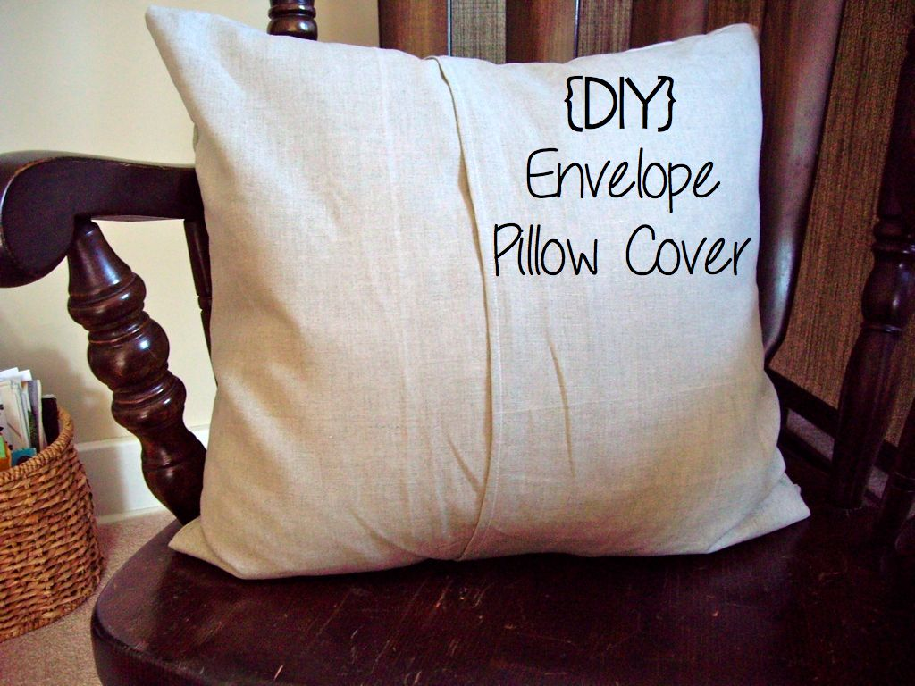 Throw Pillow Cover Make : the fancy life: (DIY) Envelope Pillow Cover