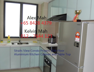 Aluminium Kitchen Cabinet and Kitchen Table Top
