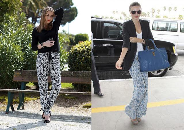 Dos looks con pantalón pijama para la oficina