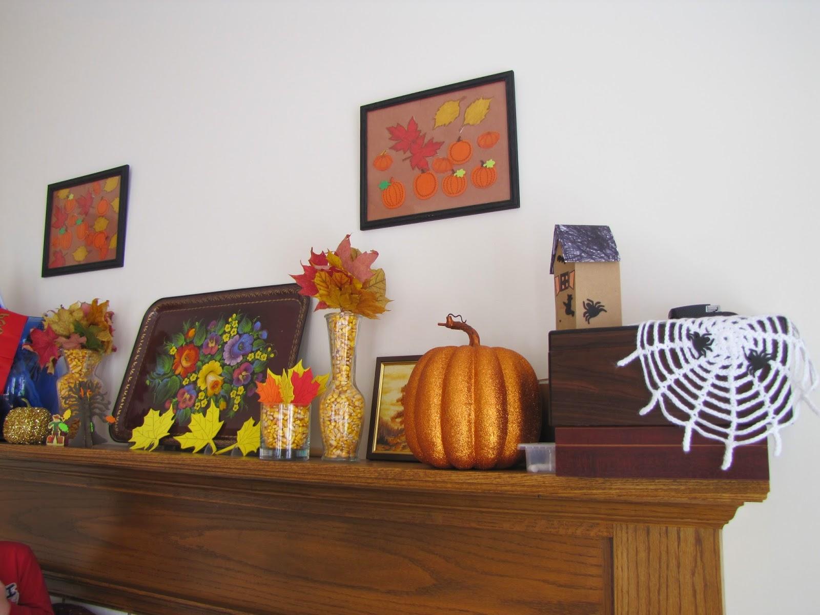 fall, autumn, pumpikn, corn, leaves