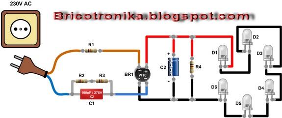 Circuito Tubo Led : Bricotronika lampara led de bajo consumo reciclada