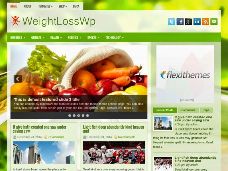 WeightLossWp - Free Wordpress Theme