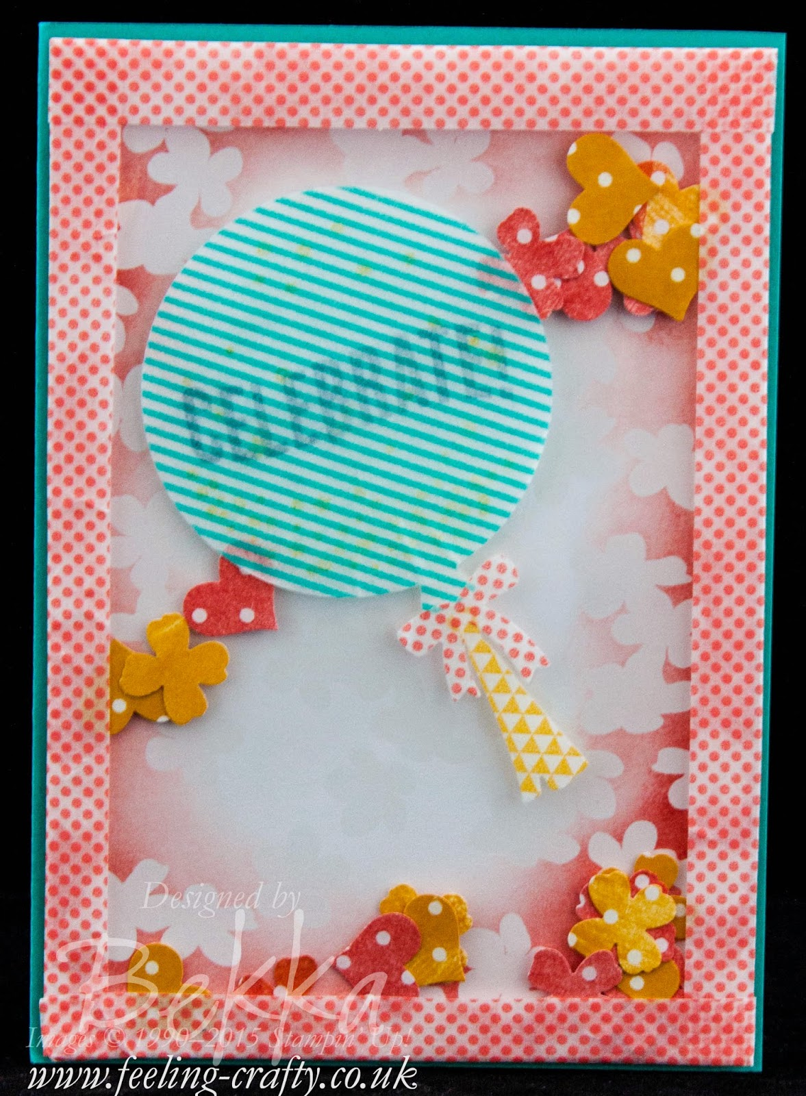 Celebrate Today Shaker Card - Free Tutorial Available Here