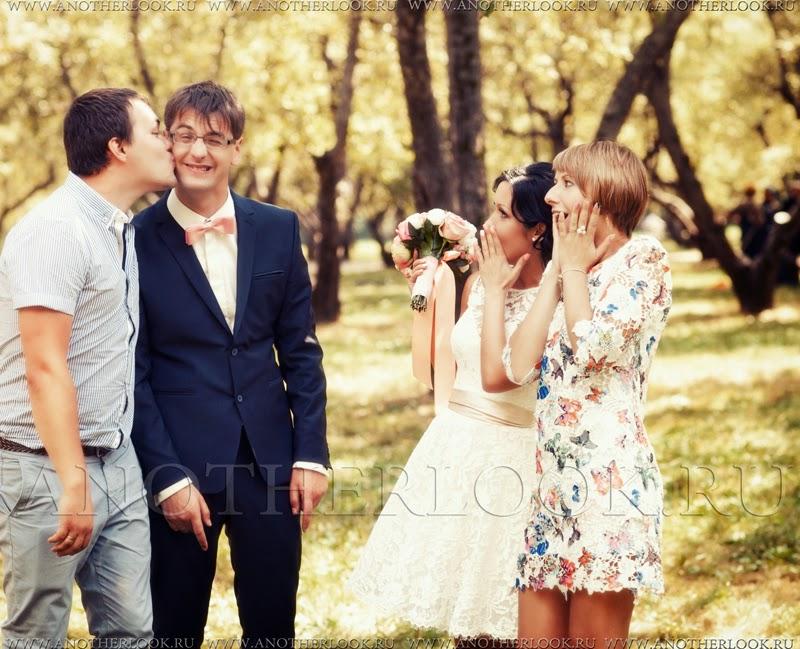 Веселая фотосессия на свадьбе